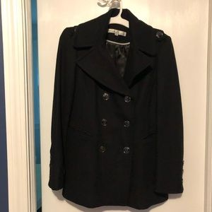 Kenneth Cole black pea coat (wool). Size 6.